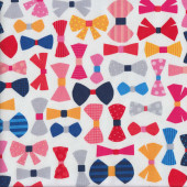 Colourful Bowties Quilting Fabric