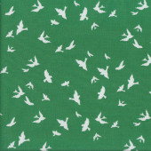 Brambleberry Ridge Christmas White Birds Quilting Fabric