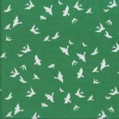 Brambleberry Ridge Christmas White Birds Quilting Fabric