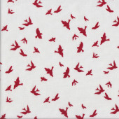 Brambleberry Ridge Burgundy Birds Quilting Fabric