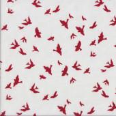 Brambleberry Ridge Burgundy Birds Quilting Fabric
