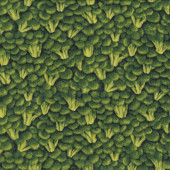 Brocolli Florets Design Vegetable Veggies Vege Quilting Fabric