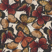 Brown Butterflies Quilting Fabric