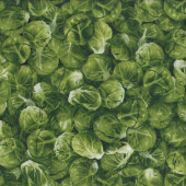Brussels Sprouts Vegetable Vege Veggie Food Garden Quilting Fabric