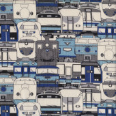 Japanese Bullet Trains Quilting Fabric