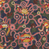 Australian Aboriginal Burrambin Animals Quilting fabric