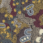 Aboriginal Bush Sultana by A.Napanangka Quilting Fabric