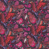 Beautiful Butterfly Wings Pink Purple Red Quilt Fabric
