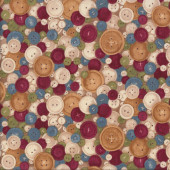 Buttons Sewing Quilting Fabric