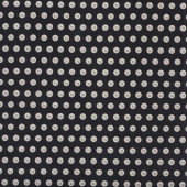 Clear Buttons on Black Quilting Fabric