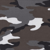Camouflage Grey Brown Black White Pattern Quilting Fabric
