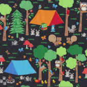 Camping Club Quilting Fabric