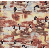 Canadian Geese Quilting Fabric