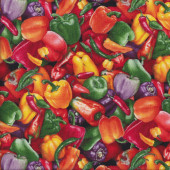 Capsicums Peppers Chilli Veggie Quilting Fabric