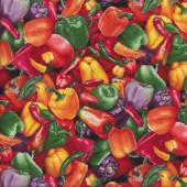 Capsicums Peppers Chilli Veggie Quilting Fabric