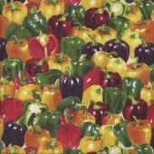 Capsicums Vegetable Kitchen Quilting Fabric