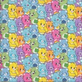 Care Bears Rainbow Colours Girls Kids Licensed Quilting Fabric