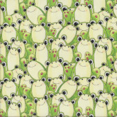 Green Eyed Frogs Quilting Fabric