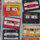 Colourful Cassettes Fabric