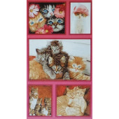 Cat Crazy Fabric Panel