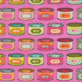 Cat Snack Tins Tabby Road Tula Pink Quilting Fabric