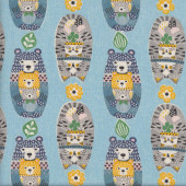 Cute Babushka Cats Fabric
