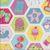 Chasing Waves Starfish Kids Quilting Fabric