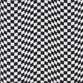 Black and White Checks Start Finish Checkered Flag Design Boys Quilt Fabric