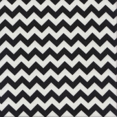 Black and White  Chevron Design Zig Zag Quilting Fabric