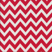 Red and White Chevron Design Zig Zag Quilting Fabric