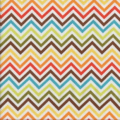 Multi Coloured Chevron Quilting Fabric