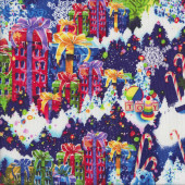 Christmas Toys Presents Quilting Fabric