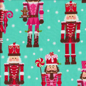 Christmas Nutcrackers Quilting Fabric
