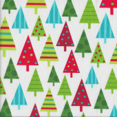 Christmas Trees Jingle Quilting Fabric