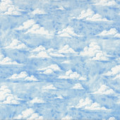 Clouds Blue Sky Nature Landscape Quilt Fabric