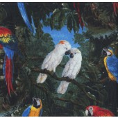 Cockatoos Macaws Quilting Fabric