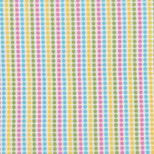 Yellow Pink Aqua Green Spots Dots on White Remix Quilt Fabric