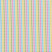 Yellow Pink Aqua Green Spots Dots on White Remix Quilt Fabric