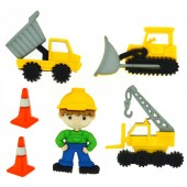 Construction Dump Truck Crane Earth Mover Shank Buttons