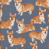 Corgi Dogs Pet Animal Quilting Fabric