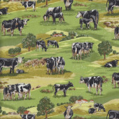 Cows Hills Country Quilting Fabric