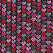 Crystal Love Hearts Quilting Fabric