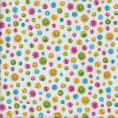 Cute Button Sewing Quilting Fabric