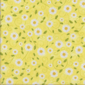 Daisies on Yellow You are my Sunshine Flowers Quilting Fabric