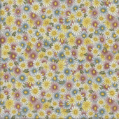 Daisies My Secret Garden Flowers Floral Quilting Fabric