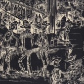 Skeletons Deadwood Saloon Cowboys Wild West Quilting Fabric