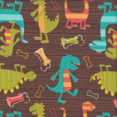 Dinosaurs Dino Dudes Quilting Fabric