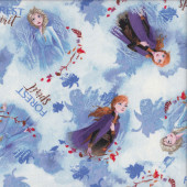 Disney Frozen Elsa and Anna Forest Spirit Licensed Quilting Fabric