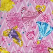 Princess Belle Rapunzel Cinderella Aurora Quilting Fabric