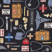 Doctors Medical Supplies Quilting Fabric